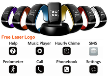 OLED anti lost Design for iPhone & Samsung Android bluetooth bracelet with caller id