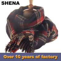 shena new style fashion custom acrylic magic winter knitting scarf factory