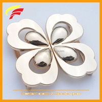 fashion zinc alloy butterfly shaped joint buckle, two pieces interlocking metal belt buckle for down coat