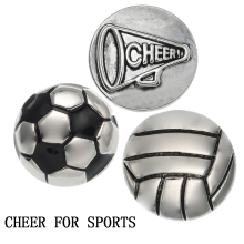 18MM Snap Button Jewelry Football Sport Charm for Bracelet SBL624