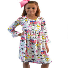 New designs children's summer boutique clothing new model cotton girl child dresses