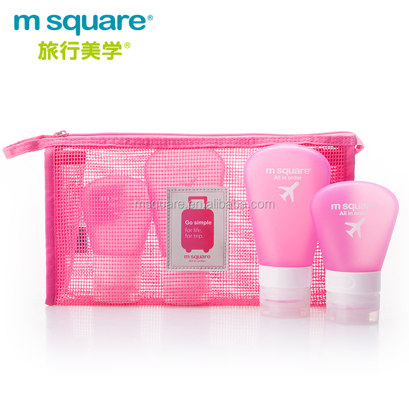 Mini light zipper <strong>travel</strong> m square brand design PVC mesh cosmetic bag for small items