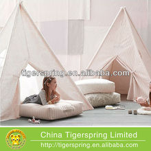 Childlike children kids play indian teepee tent