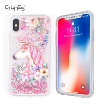 Pretty Fashion Design Phone Case for iphone X Glitter Liquid Floating Bling Sparkle Quicksand Bumper Case for iphone X