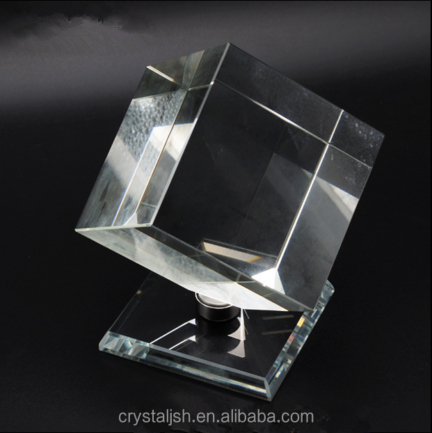 Blank Crystal Cube, Colorful Optic Crystal Glass Block for Engraving Gifts