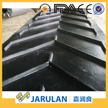 black closed urethane rubber fish bone conveyor belt made in china