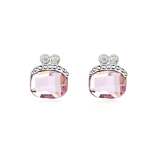pink crystal hot selling children's sex photos earring