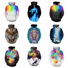 pring Autumn Thin Hooded Hoodies Men/women 3d Sweatshirts With Cap Print Hoodies