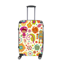 Customized Design royal ABS PC luggage bag and PC trolley luggage with 360 degree universal swivel wheels