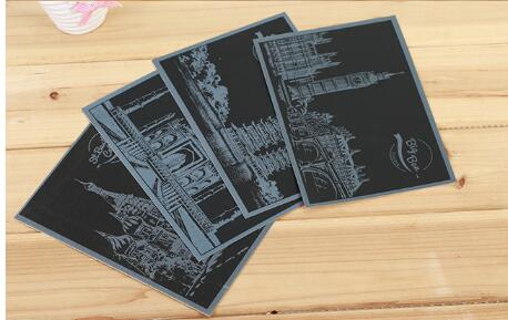 Postcard Scratch Art Card Engraving Art Magic Paper 20*15cm