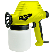 TOLHIT 110W Mini Solenoid Paint Spray Gun Portable Electric Power Hand Pump Sprayer