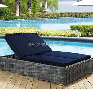 Swimming pool relaxing viro wicker lounge furniture outdoor double beach chair