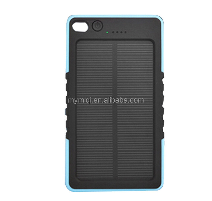 MIQ 2015 high quality USB Power Bank Mini solar Charger 6000mah Solar Power Bank for Smartphone