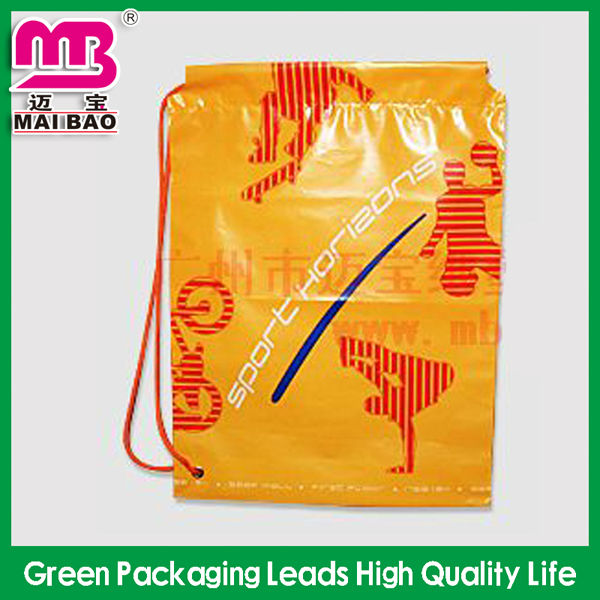 Pure biodegradable material colored drawstring trash garbage bag