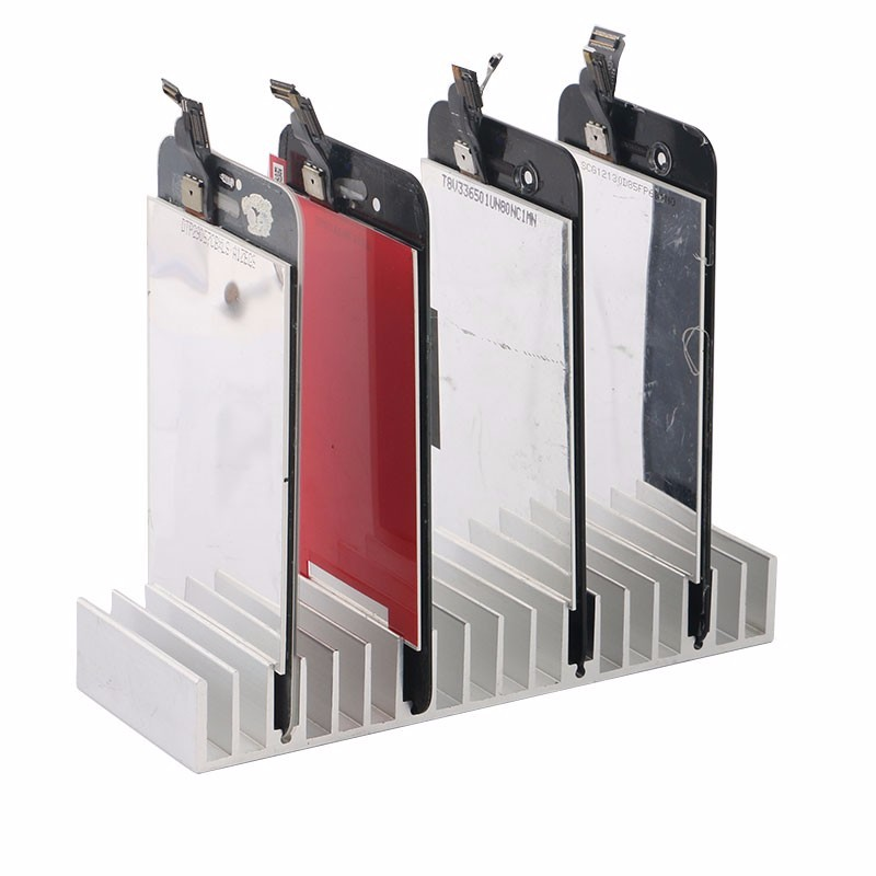 Aluminum Metal LCD PCB Holder Tray Slots for iPhone Samsung LCD Panel Refurbish Support Station Phone Repair Tools