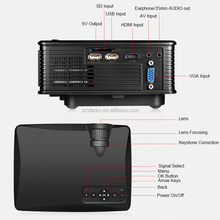 SD50plus Pico Portable Micro 1500lumens Video HDMI USB VGA Full HD 1080P Projector Home Theater mini 3D LED Video Projector