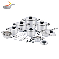 Hot sale 24pcs royal prestige surgical stainless steel induction kitchen cookware set cooking pot
