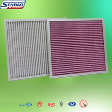 G3 G4 Polyester Fabric Pre Filter Synthetic Material Panel Air Filter