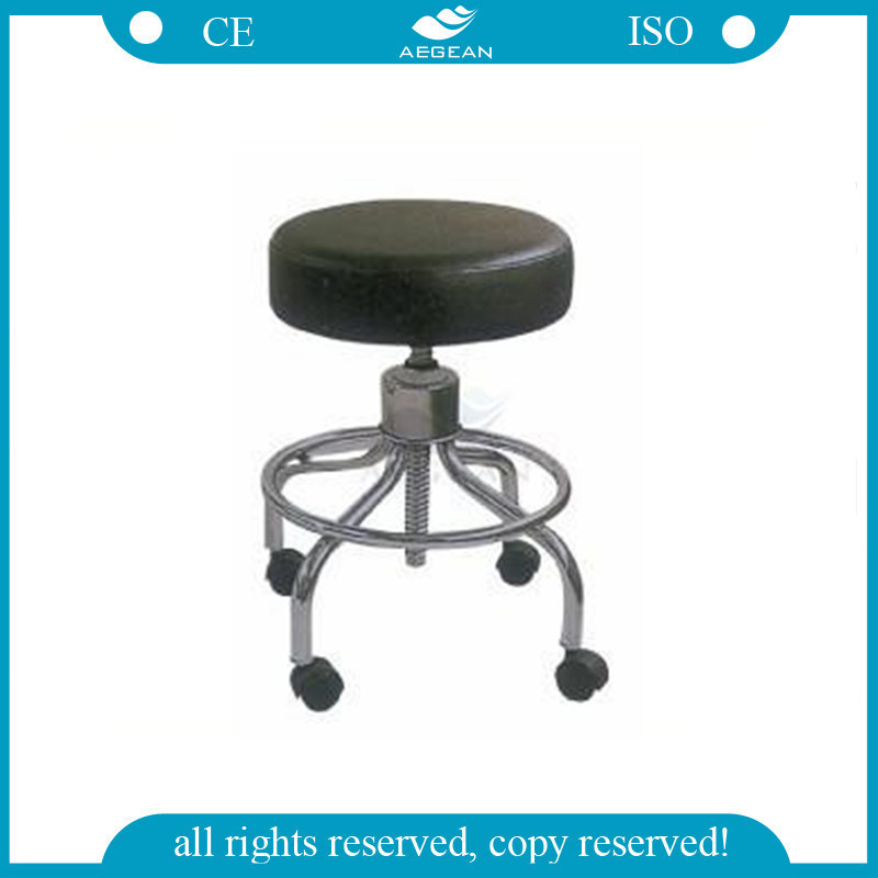 AG-NS001 CE ISO height adjustable stainless steel doctor PU medical stool