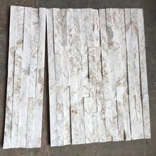 2018 Beige 15*60*2 cm new Design natural slate cultural stone wall cladding stone Natural Bricks
