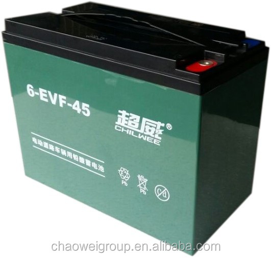 Chilwee MF Silicone gel deep cycle battery 12V45Ah/3Hr for electric wheelchairs and electric medical devices