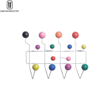 Replica modern wonderful design wood balls colourful Hang It All coat hanger
