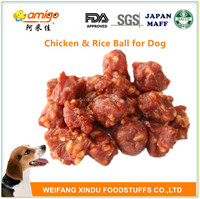 Chicken and Rice Ball Pellet Dog Food Packed With Stand up OEM Bag or Amigo