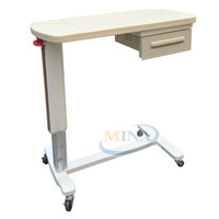 MINA-OBT002 ABS Painted/hospital bedside tables with four silent wheels