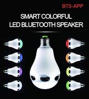 BLING bling shine cool APP bluetooth wireless led lightmulticolor led bulb with bluetooth speaker with Timer Smartphone control