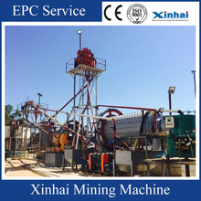 10TPH Alluvial Gold Plant Equipment , Gold Processing Plant