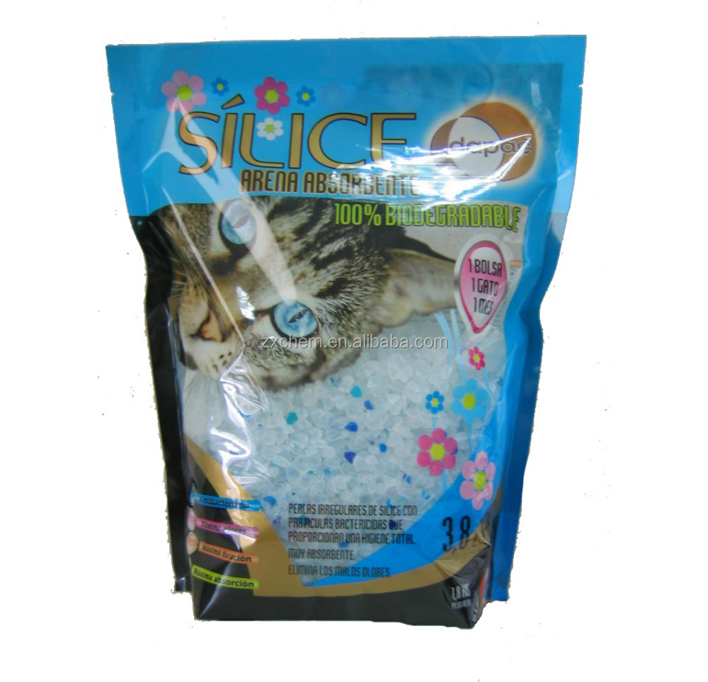 Silica gel cat litter crystal 3.8 L bulk with 3% blue silica gel
