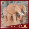 Hand Carved Natural Stone Elephants Sculpture for Sale