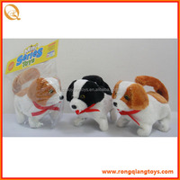 Hot animated electronic walking plush dog toys brown white dog plush toys BC4292L323A