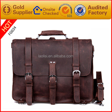 2016 new arrive fashion crazy horse style mens leather backpack handbags