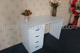 HXZW-50 wooden white color four drawer furniture children study table