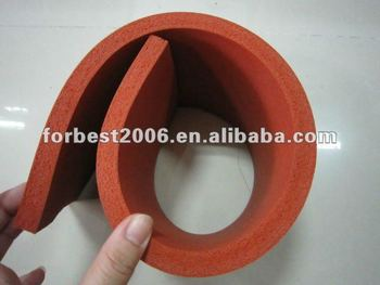 3mm 10mm thickness brown/red silicone foam rubber sheet