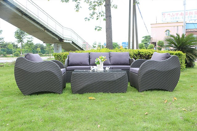 Outdoor Furniture Leisure Garden Sofa 4-Seater For Restaurant