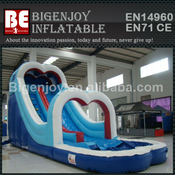 Top sale cheap giant inflatable cardioid water slide for kids
