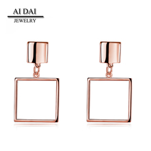 factory made jewelers rose gold earring in stainless steel jewelry