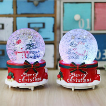 Polyresin boule cristal personalized rotate musical crystal ball for wholesale