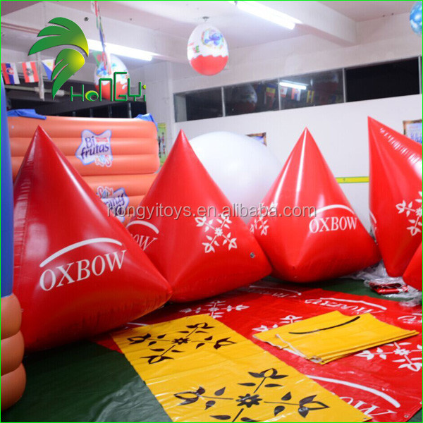 Advertising Inflatable Water Floating Pyramid Triangle Buoys / Inflatable Race Buoy Used for Sea