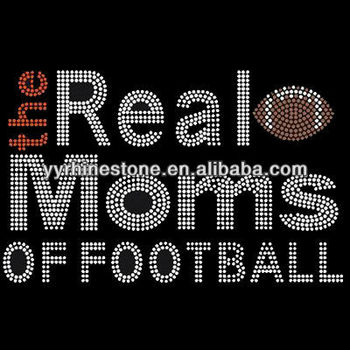 the real moms of football rhinestone iron on transfers