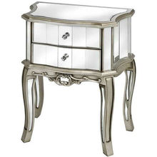 Argente Antique French Mirrored 2 Drawer Bedside Table