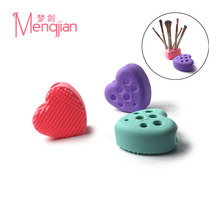 High quality heart-shaped silicone makeup brush cleaner drying hloder cosmetics brush cleaner