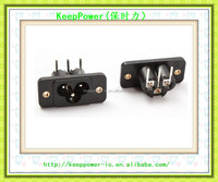 AC power socket Mickey Mouse socket C6 type plum socket three core card with ear screw fixed NK2-4T01
