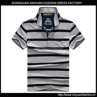 New Fashion Mens Short Sleeve Stripes Shirts Casual Oversize Polo Shirt For Men