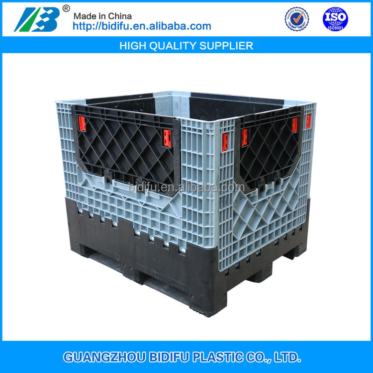 heavy duty folding plastic Industrial storage pallet boxes plastic container price for sale China manufacture