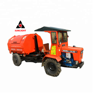 SLT-124D refuse collector tractor dumper with waste management waste disposable rubbish removable hook lift bin