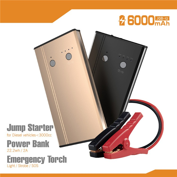 Portable powerbank car jump starter battery booster formotorcycles, automotive jump start 12V cars,with LED light