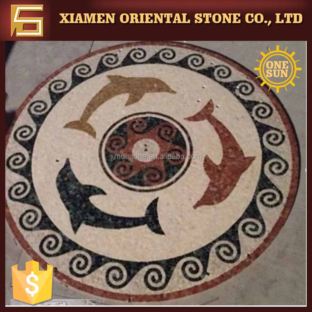Popular style design mosaic marble art work on sale
